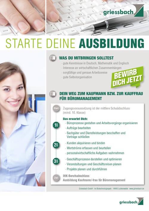 Ausbildungsbetrieb für Bürokaufmann Bürokauffrau Griessbach Luckenwalde