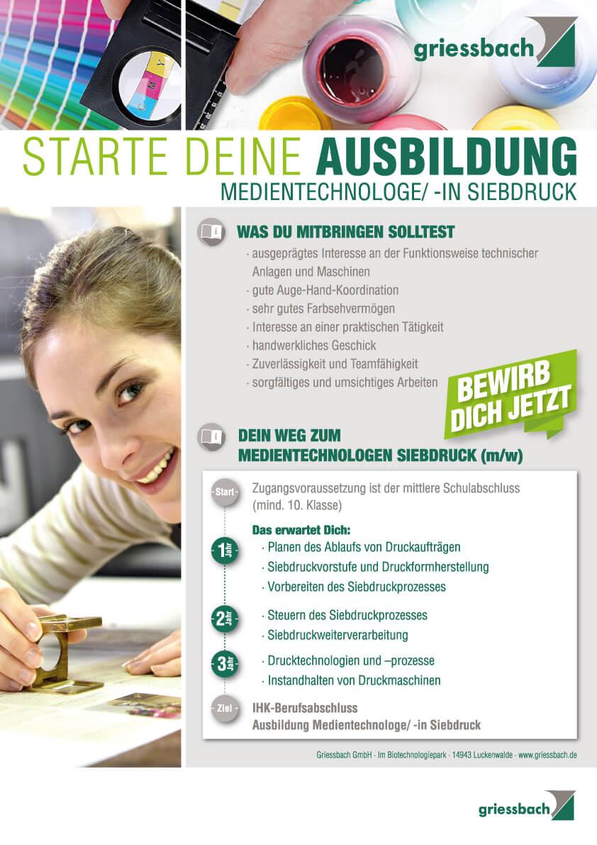 Ausbildung zum Medientechnologen in Brandenburg Griessbach