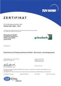 Griessbach Luckenwalde Zertifikat Managementsystem
