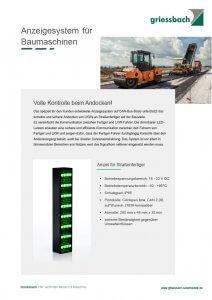 Anzeigesysteme für Straßenbaumaschinen